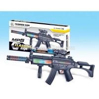 Fashion Flashing Gun MP5 Mainan Anak Pistol Tembakan Laser 17447 A