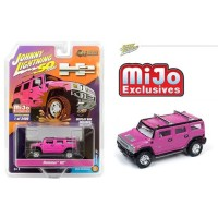 Johnny Lightning 1/64 MiJo Hummer H2 Wagon Pink