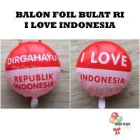 Balon Foil Round HUT RI / Balon DIRGAHAYU RI model Bulat