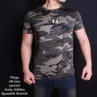 Baju kaos Pria ARMY gym fitness Model terbaru tentara loreng camo Un