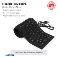 Flexible Keyboard Gulung Lipat Anti Air|Fleksibel Waterproof Murah ORI