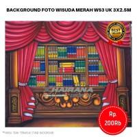 Background Backdrop Latar/Layar Foto Rak Wisuda Gorden Merah T3 3x2.5m