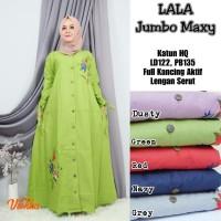 Baju Terusan Wanita Muslim Longdress Lala Jombo Maxy