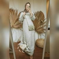Maxy Mubarak Velvet Kombi Brukat/Gamis Brukat/Gamis Pesta/Baju Muslim