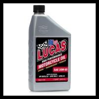 BARANG BAGUS LUCAS OIL SAE 20W-50 MOTORCYCLE OIL / OLI MOTOR GEDE
