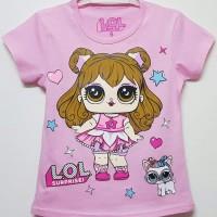 1-6T Baju Kaos anak Karakter perempuan LOL kucing