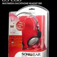 Termurah Sonicgear Bs200 - Pc Stereo Mutimedia Backphone Heatset Micro