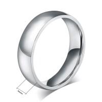 Cincin Titanium Silver Polos Emas Putih Single Couple Wanita Pria