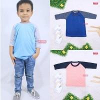 Kaos Reglan POLOS 1-2 Tahun Lengan / Atasan Bayi Panjang Baju Laki