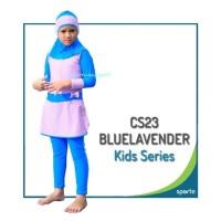 CS23 Sporte Blue lavender Baju Renang Muslimah. Anak Perempuan.