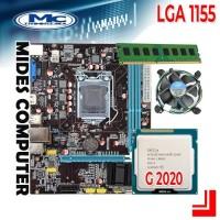 Motherboard 1155 H61 + Processor Intel G2020 + RAM 2GB + FAN