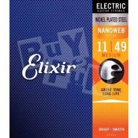 Elixir 12102 Senar Gitar Elektrik (11-49) Nanoweb Original USA