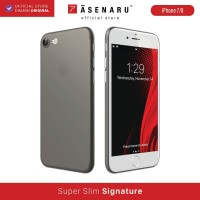 ASENARU iPhone 7/8/SE 2 Case - Slim Signature Casing - Gunmetal Gray