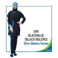 BAJU RENANG MUSLIMAH SPORTE SR-11 BLACK BLUE ( BLACK BOLERO )