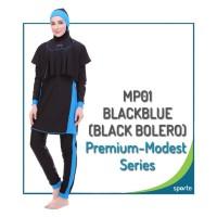 BAJU RENANG MUSLIMAH SPORTE MP-01 BLACK BLUE