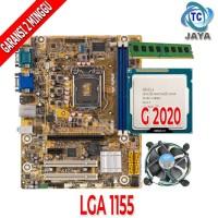 Paket Motherboard LGA 1155 H61 Dengan Processor G2020 / RAM free FAN