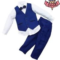 setelan suit tuxedo navy/setelan rompi anak/baju pesta anak