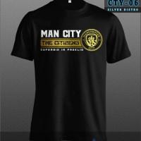 Kaos Manchester City CTY-06 The Citizens Hitam Ori Baju Distro Terbaru