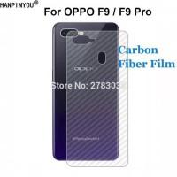 SKIN CARBON OPPO F9 BACK CASE NON TEMPERED GLASS