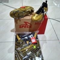 promo asyik Sepatu Bola Specs Barricada Ultra LE FG Emperor Gold Black