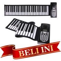 Piano Roll Up Flexible Silicon Soft Keyboard with Speaker Piano Gulung