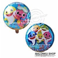 Balon Foil Baby Shark / Balon Foil Bulat Baby Shark / Balon Ikan Hiu