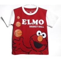 1-6T Baju Kaos anak Karakter Laki laki Elmo Merah Putin