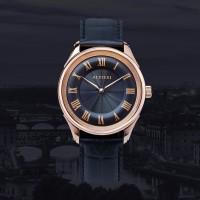 ALVIERI - Firenze Classic - Rose gold case 40mm Black(AFE 114)