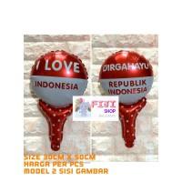 Balon Tongkat RI Foil / Balon Pentung I Love Indonesia - Dirgahayu RI