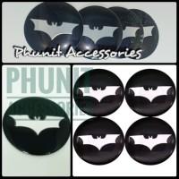Emblem sticker bulat Batman dark knight silver mobil motor hp laptop