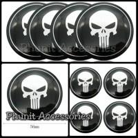 Emblem sticker bulat Punisher untuk mobil motor