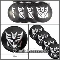 Emblem Sticker Bulat Transformers Decepticon untuk mobil motor