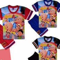 Baju Kaos Atasan Setelan Murah Stelan Anak Laki Upin&Ipin