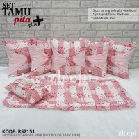 Set Tamu Pita /Sarung Bantal Sofa Shabby CHIC/Tempat Tisu/Taplak meja