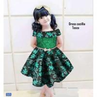 Dress cecilia/dres batik anak cewe murah/baju anak cewe