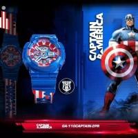 Jam Tangan Casio G-Shock GA-110CAPTAIN-2PR Captain America 110 Ori BM