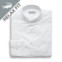 KOKO Long White - Men Shirt Crocodile Kemeja Lengan Panjang - Relax Fi