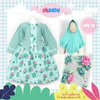 (3-7 tahun) WO 19 Baju Muslim Gamis Anak Oh Baby Kebaya Tosca