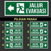 SIGN AKRILIK K3 SAFETY PETUNJUK ARAH JALUR EVAKUASI 10 X 30CM