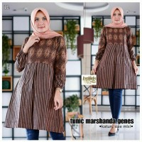 Baju Batik Kantor Wanita Fashion Batik Wanita Modern Tunik Batik Baru