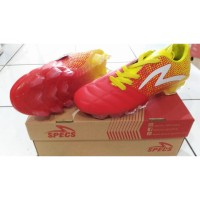 Sepatu Bola Specs Equinox FG, Red/Yellow/White