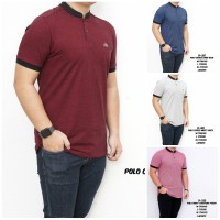 Polo Shirt Kaos Kerah Shanghai Casual Pria Basic Sliim Fit