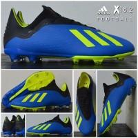 Adidas X 18.2 FG Original Blue Solar Yellow Core Black Football Shoes