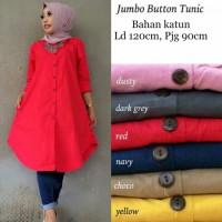 Baju tunik jumbo wanita muslim Long Kemeja LKB Jumbo