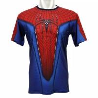 Kaos 3D Spiderman Amazing 2 Fullprint Baju Superhero Anak dan Dewasa