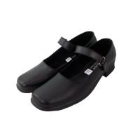 Sepatu Pantofel Wanita Hitam Hak 3 Cm Cewek Sekolah Kantor Paskibra