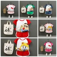 Baby Boys Girls Hello Kitty Cartoon Short Sleeve T-Shirt Shorts Casual