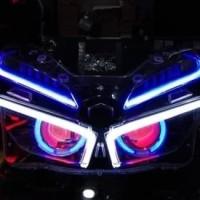 Custom Headlamp Honda Vario 150 (2018) with Projector AES + Alis