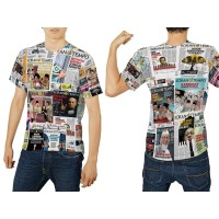 kaos baju tshirt custom fullprint koran tempo premium
