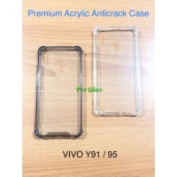 VIVO Y91 / Y95 Anticrack / Anti Crack / ACRYLIC Case Silicone Premium